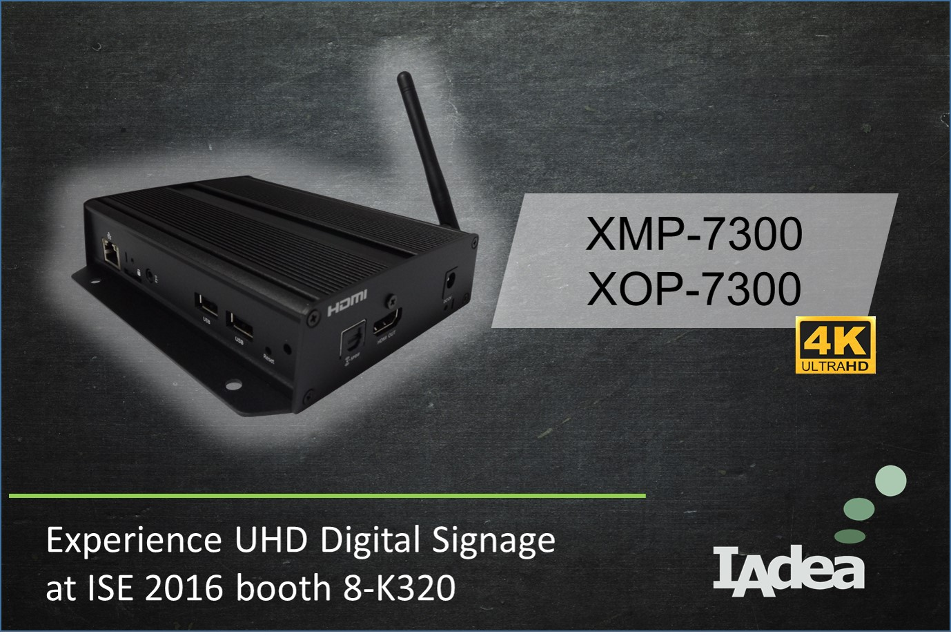 IAdea Launches 4K, Retail-focused UHD Digital Signage Media Players at ISE 2016