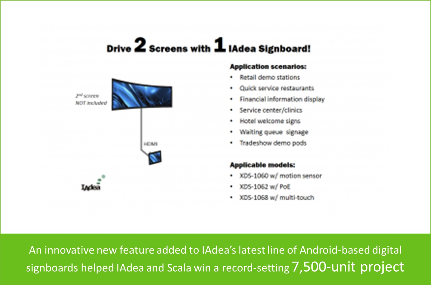 Dual-Display Signboards Help IAdea and Scala Win Record-setting Project