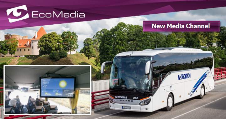 Media player installed in Latvia's Nordeka intercity buses