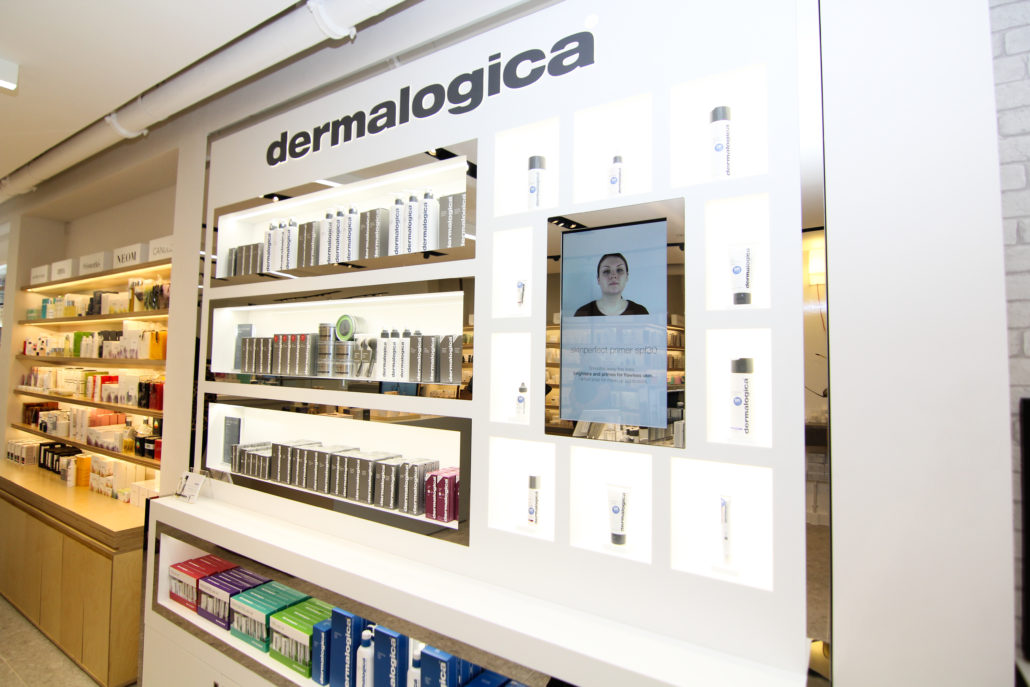 Signboard installed at Dermalogica UK