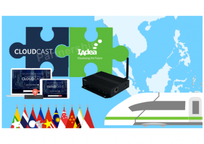 IAdea Partners with CloudCast Powered by KNOWCK Delivering Robust Easy-to-Use Digital Signage Solutions to Offer Digital Signage for Transportation Market