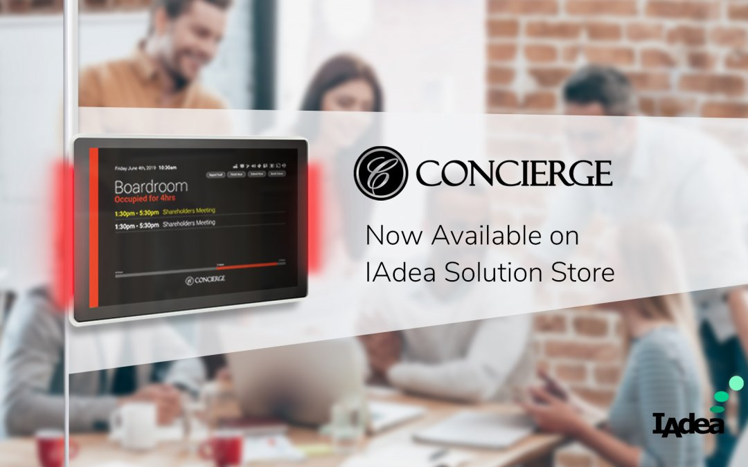 Manage your room booking with the Concierge Displays application – Now available on IAdea Solution Store