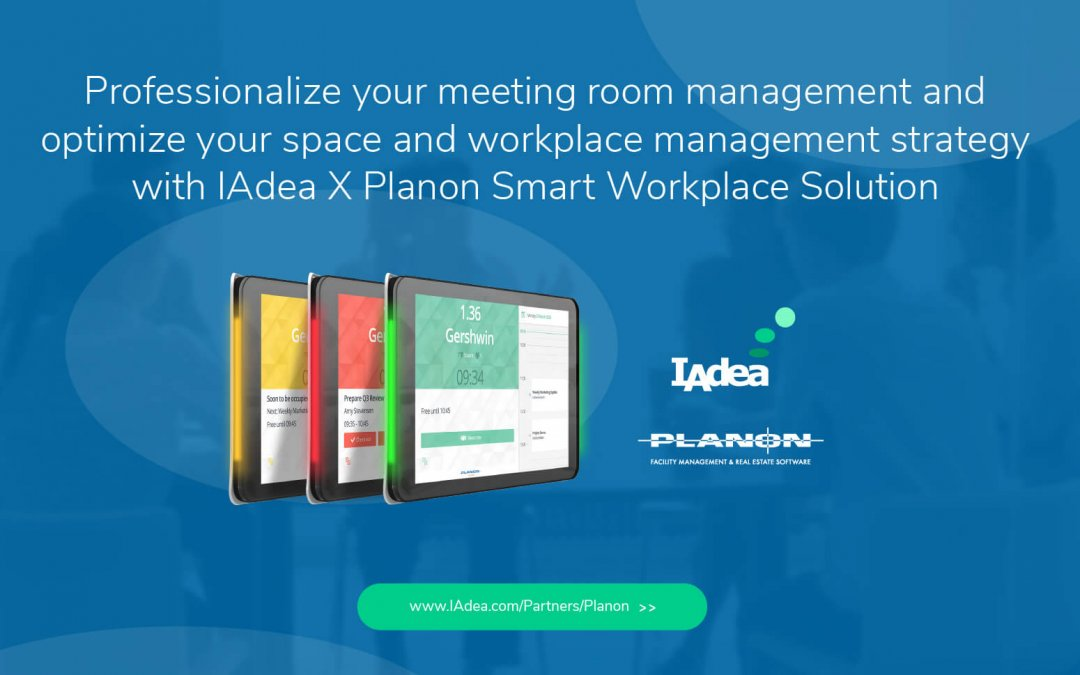 DST: Planon and IAdea Partner to Offer Digital Display Technology for Meeting Management